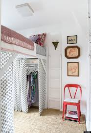How To Make A Loft Bed With Desk Underneath by 11 Ways To Make A Tiny Bedroom Feel Huge Huffpost