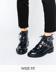 womens boots uk asos low price asos abe wide fit leather ankle boots navybox
