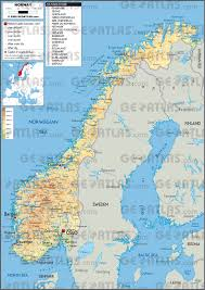Map Of Norway Geoatlas Countries Norway Map City Illustrator Fully
