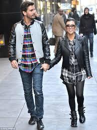 kourtney kardashian and scott disick wear matching plaid shirts