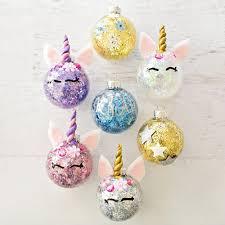 hello wonderful diy glitter unicorn ornaments crafts