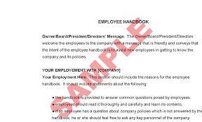 employee handbook sample business forms hr u0026 performance sa