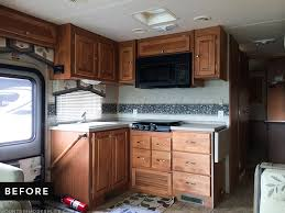 what is the best paint to redo kitchen cabinets how to paint your rv kitchen cabinets mountainmodernlife