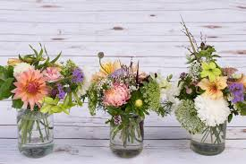 wedding flowers jam jars plantpassion