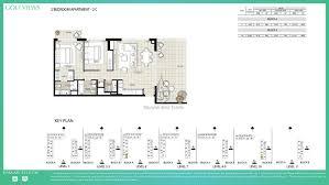 views by emaar 2 bedroom apartment 2c floor plan