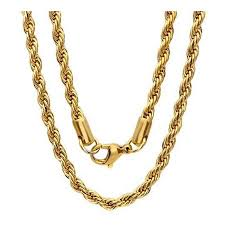 chain rope necklace images Beautiful 22 quot gold color stainless steel french rope chain jpeg