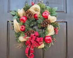 neutral mesh wreath etsy