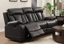 Grey Leather Reclining Sofa by Homelegance Ackerman Double Reclining Sofa Grey Bonded Leather