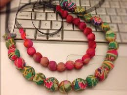 make beads necklace images How to make a fabric covered bead necklace snapguide jpg
