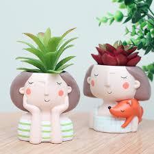cute plant cute girl flower plant pot zarafadeal
