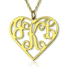 Personalized Heart Necklace Custom Soild Gold Name Necklace Customized Personalized Name