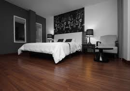 Laminated Wooden Flooring Brown Laminated Wood Flooring In A Bedroom Unit Laminated