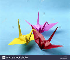 origami japanese paper folding art animals birds brightly