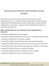 network administrator sample resume resume peppapp