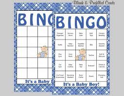 60 baby shower bingo cards 60 prefilled bingo cards boy