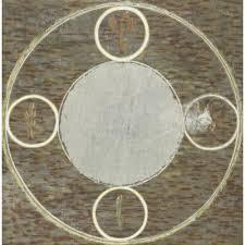 Pentacle Rug Gray Crawford Astrology