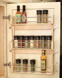 spice cabinets for kitchen 21 pantry door mount wood spice rack kitchen cabinet shelf storage
