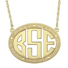 monogram necklace gold gold silver monogram necklace 6