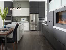 Kitchen Cabinets Modern Design Contemporary White And Grey Thermofoil Slab Doors Kitchens