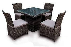 dining table set 4 seater rattan 4 seater square dining table 5 year warranty