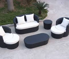 furniture modern black wicker outdoor furniture for outdoor