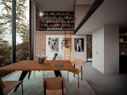 Home Library Design Uk Dramatic Minimalist Home Transforms An Abandoned Quarry In The Uk