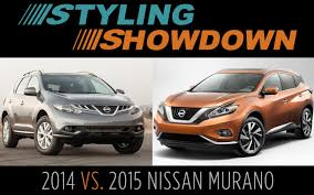 nissan murano old model 2014 vs 2015 nissan murano styling showdown