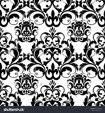 damask baroque seamless pattern floral ornamentsmodern stock