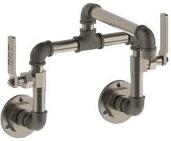 watermark kitchen faucets watermark 38 2 25 c n u ev4 upb elan vital bridge wall mount