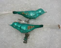 vintage bird ornaments etsy