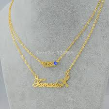 Name Chains Gold Aliexpress Com Buy Name Chains Necklace Pendant Kiss Love Women