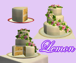 wedding cake in the sims 4 lemon cake this cake would go well with the pink collection