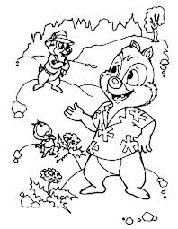 picture of chip and dale colouring page for kids fun colouring