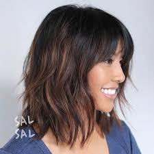 25 Beautiful Medium Shag Haircuts by 25 Trending Lob Bangs Ideas On Lob With Bangs