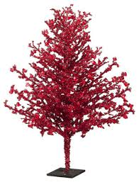 Novelty Decorative Artificial Christmas Twig Tree Unlit Gold Iced
