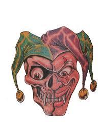 clown tattoos in paper