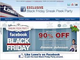 black friday marketing facebook becomes lowe u0027s black friday marketing tool 11 05 2010
