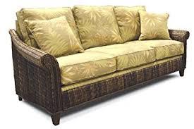 Wicker Sleeper Sofa Indoor All Abaca Tropical Rattan And Wicker