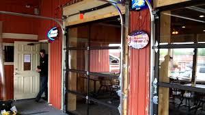 garage door company names fullview aluminum garage doors for a restaurant we installed youtube