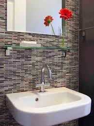 backsplash ideas for bathrooms tile backsplash bath design glass shelves and kitchens