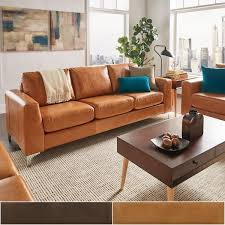 Light Colored Leather Sofa Sofa Delightful Modern Brown Leather Sofa Great Light Couch 85