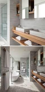 open bathroom shelves