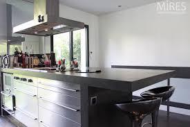 cuisine inox cuisine noir bois inox photos de design d intérieur et