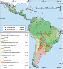 South America Map Countries Chart Forest Loss In Latin America