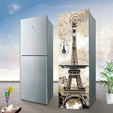 eiffel tower pvc fridge door cover wall sticker mural self yazi eiffel tower pvc fridge door cover wall sticker mural self adhesive refrigerator stickers wallpaper 60x150cm 60x180cm