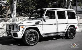 jeep white matte mercedes benz g63 amg