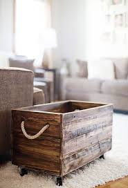 Wooden Crate Nightstand 20 Rustic Diy Wooden Crate Ideas Home Design And Interior