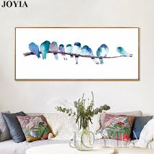 home interior prints watercolor canvas prints home decor abstract bird wall pictures