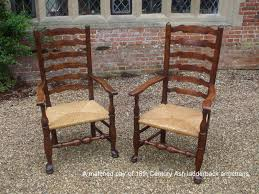 Antique Oak Ladder Back Chairs Pair Of 18th Century Ladder Back Chairs Kirstead Antique Restoration