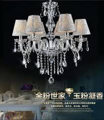 Chandelier Lamp Shades With Crystals Chandelier With Lamp Shades U2013 Eimat Co
